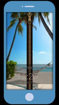Memorable Zipper Lock Screen apk screenshot