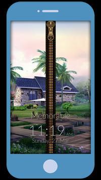 Memorable Zipper Lock Screen poster
