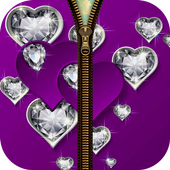 Diamond Love Zipper LockScreen icon