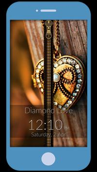 Diamond Love Zipper LockScreen screenshot 4