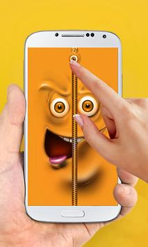 Funny Zipper Lock Screen poster