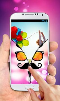Hipster Zipper Lock Screen apk screenshot