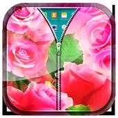 Pink Roses Zipper Lock Screen icon