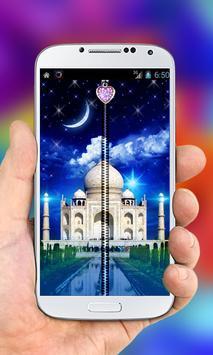 Taj Mahal Zipper Lock Screen poster