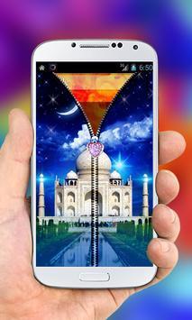 Taj Mahal Zipper Lock Screen screenshot 2