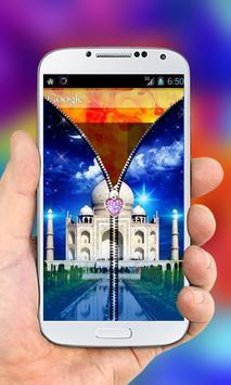 Taj Mahal Zipper Lock Screen screenshot 3