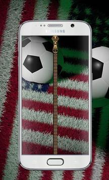 Usa football Zipper Lock™ poster
