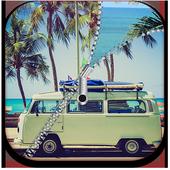 summer screen lock icon