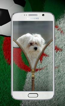 algeria football Zipper Lock™ apk screenshot