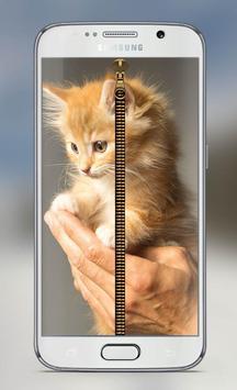Cat Screen Lock Zipper poster