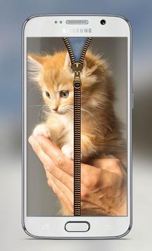Cat Screen Lock Zipper apk screenshot
