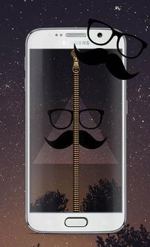 Hipster Screen Lock Zipper poster