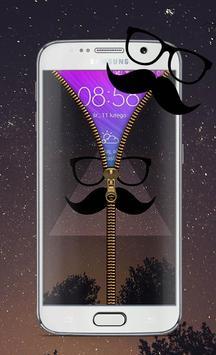 Hipster Screen Lock Zipper apk screenshot