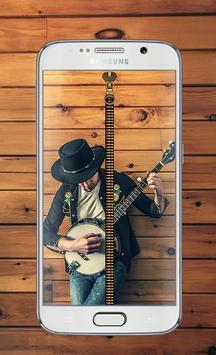 Music Zipper Lock Screen poster