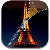 Paris Zipper Eiffel Tower icon
