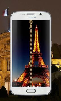Paris Zipper Eiffel Tower poster