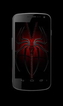 Spider Zipper Lock Screen apk screenshot