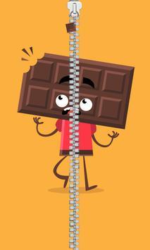 Cool choco zipper lock poster