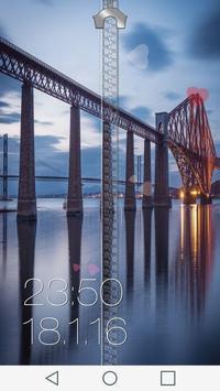 Bridge Zipper Lock Screen screenshot 13