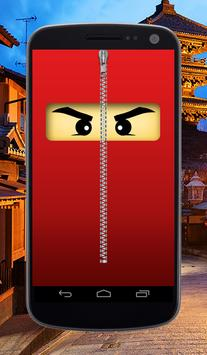 Ninja Zipper Lock Screen poster