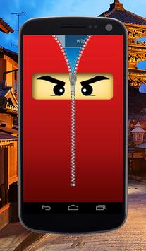 Ninja Zipper Lock Screen screenshot 1