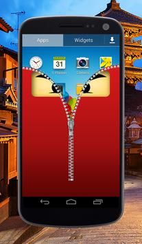Ninja Zipper Lock Screen screenshot 2