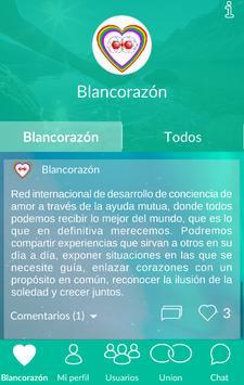 Blancorazón - Red social espiritual y esotérica screenshot 1