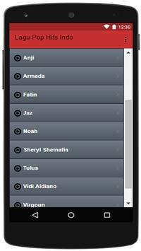 Lagu Pop Hits Indo screenshot 1