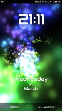 Splash neon lightning - Digital clock animation screenshot 9
