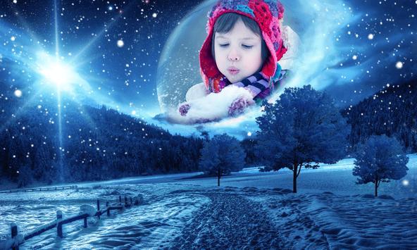 Snowfall Frames Photo Editor poster