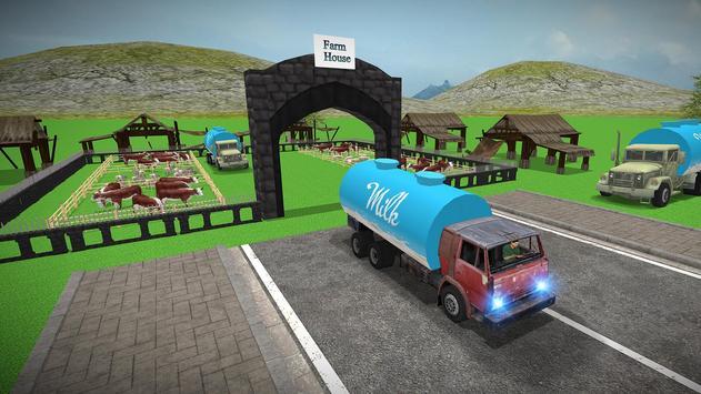 City Milk Supply Truck 3D screenshot 4
