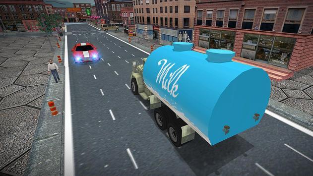 City Milk Supply Truck 3D screenshot 5