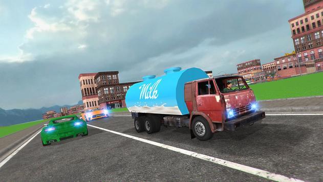 City Milk Supply Truck 3D screenshot 6