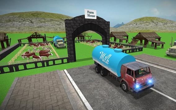 City Milk Supply Truck 3D screenshot 9