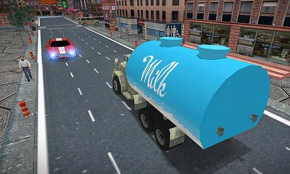 City Milk Supply Truck 3D screenshot 1