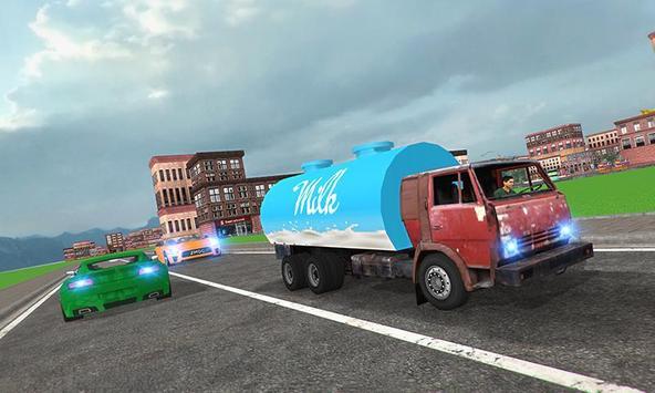 City Milk Supply Truck 3D screenshot 2