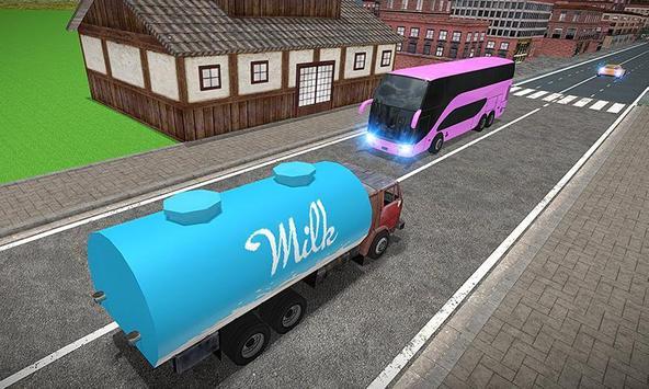 City Milk Supply Truck 3D screenshot 3