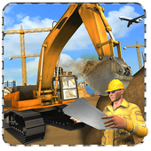 City airport construction 2017 icon