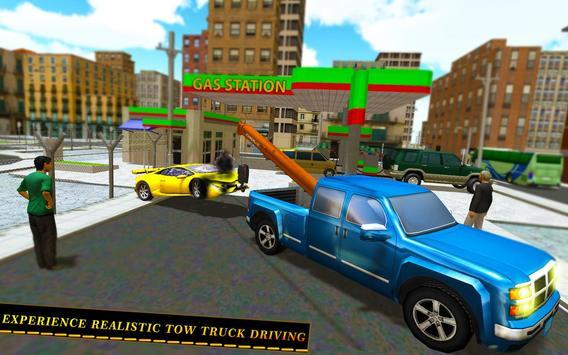 Tow Truck Car transporter Sim screenshot 12