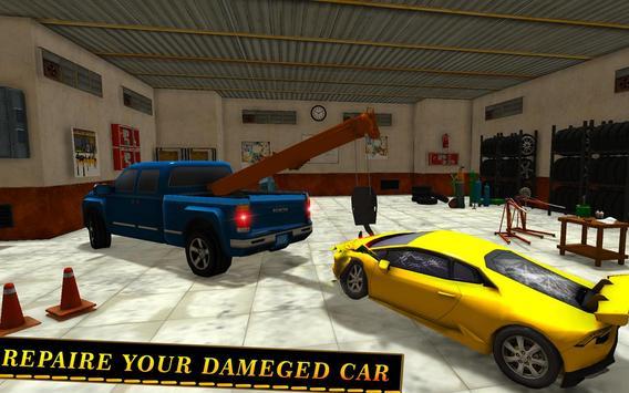 Tow Truck Car transporter Sim screenshot 13