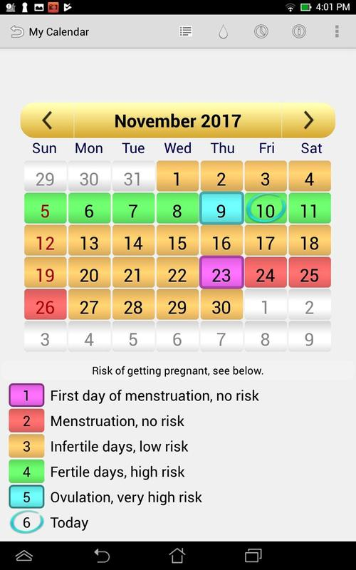 calendario menstrual ovulaci n for android apk download. Black Bedroom Furniture Sets. Home Design Ideas