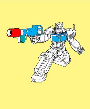 Trans Robot Coloring Game Kids poster