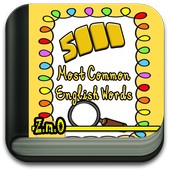 5000 most common English words icon