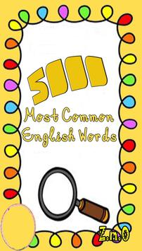 5000 most common English words poster