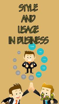 STYLE AND USAGE IN BUSINESS poster