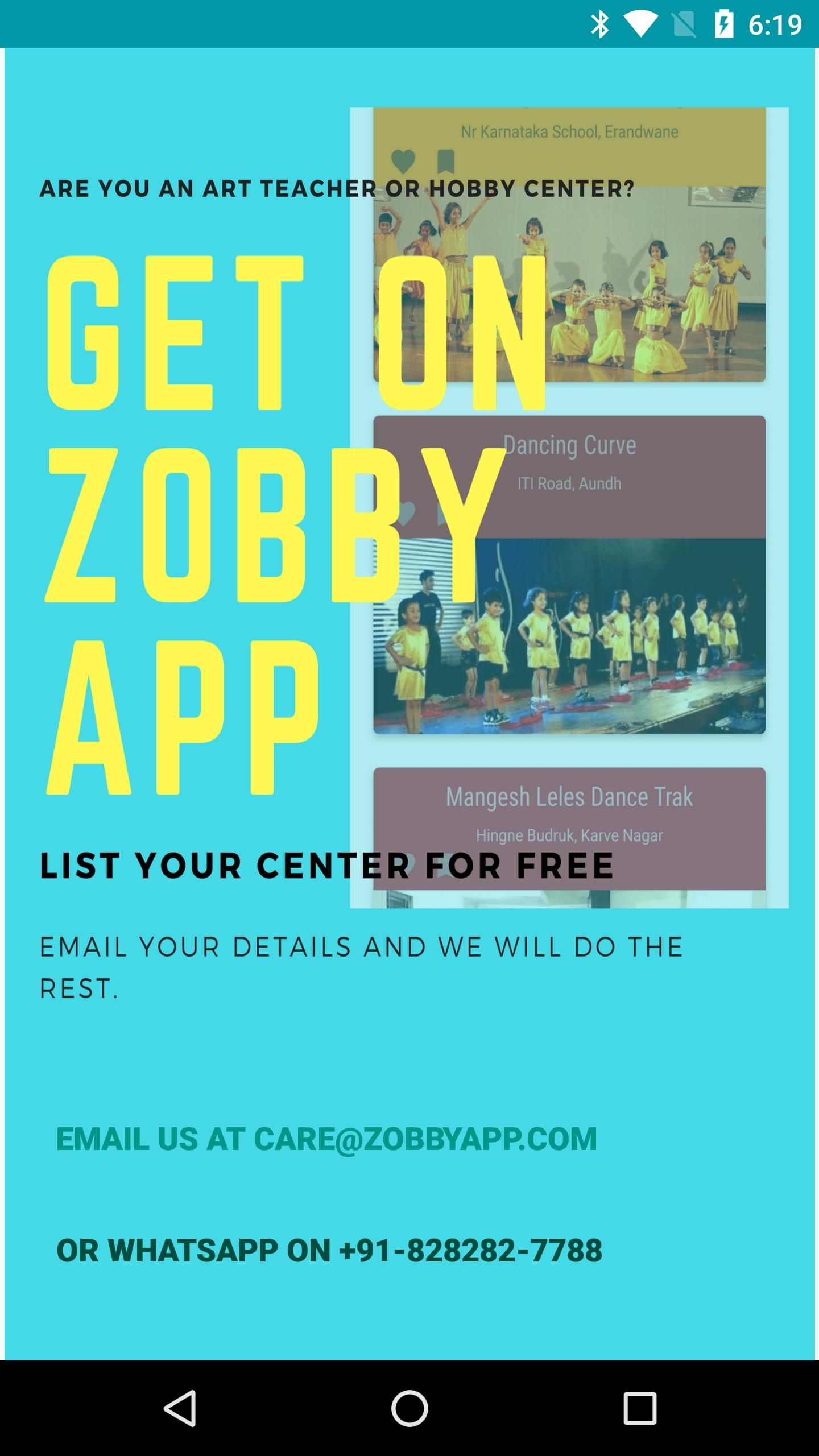 Zobby App - Hobby Classes For Children for Android - APK Download