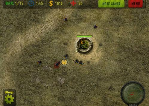 Anti Zombie Defend apk screenshot