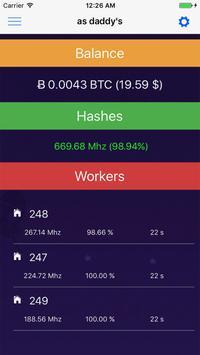 Crypto Currency Mining Monitor screenshot 2