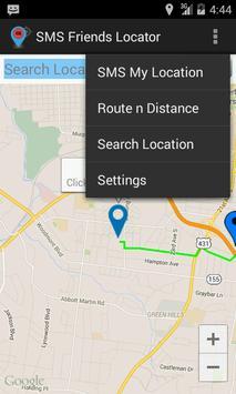 SMS Friend Locator apk screenshot