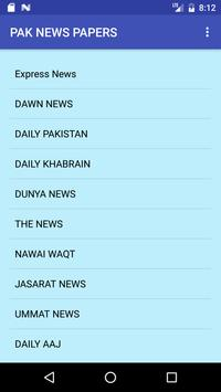 PAK NEWSPAPERS apk screenshot